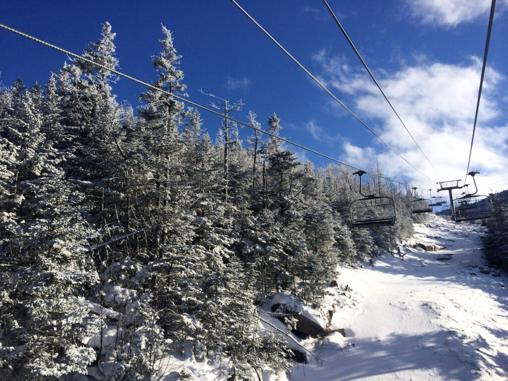 Ski slopes at Cannon Mountain in New Hampshire.