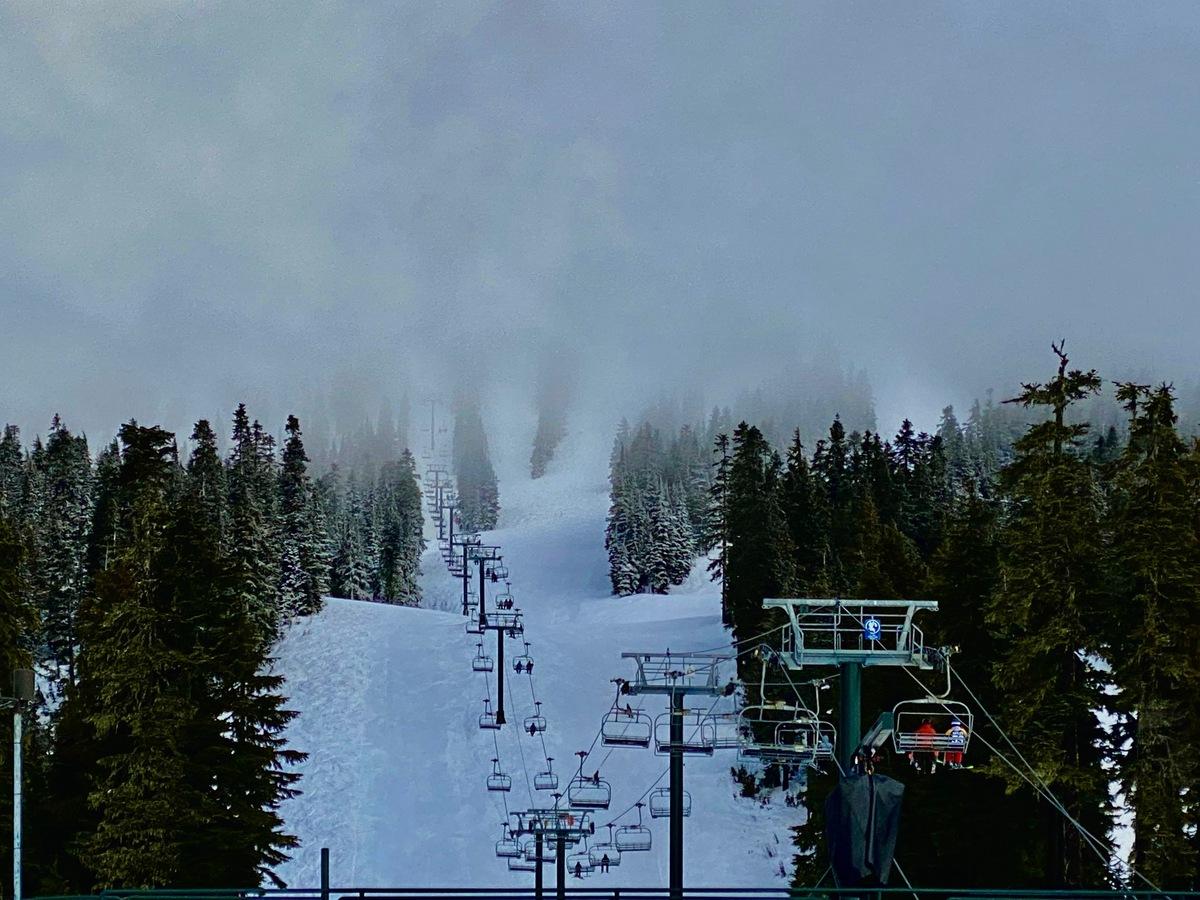 Ski slopes at Mount Washington Alpine Resort on Vancouver Island.