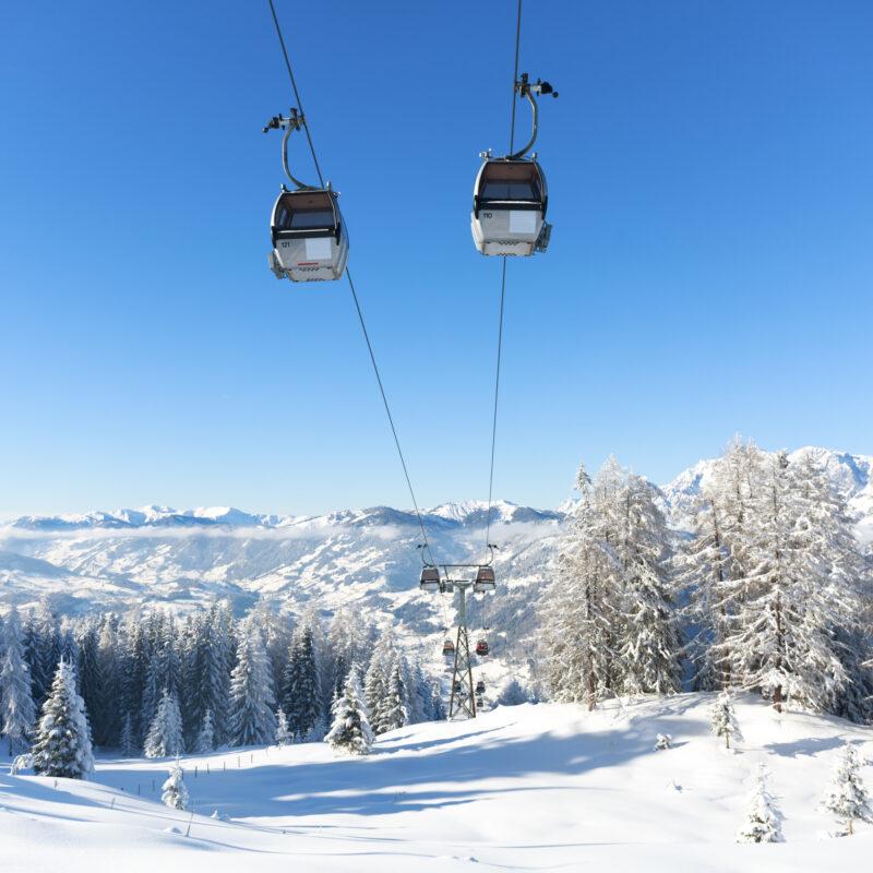 Ski slopes in Austria.