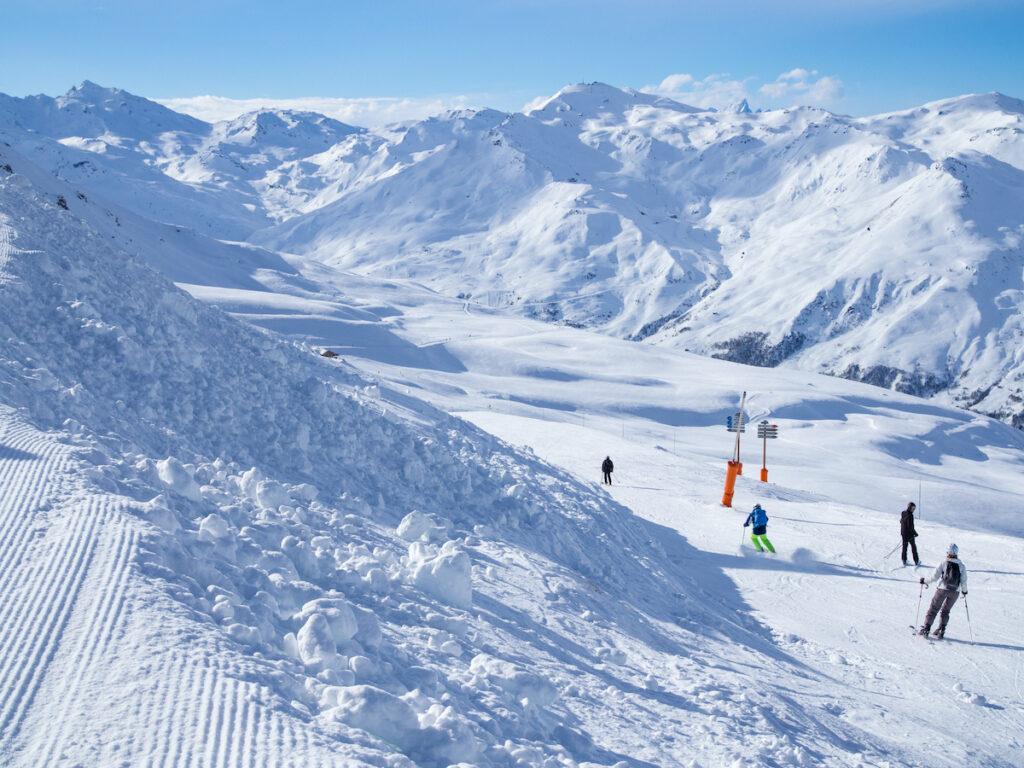 Ski slopes in France.