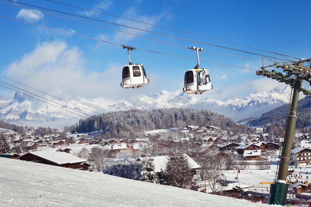 Ski slopes in Megeve, France.