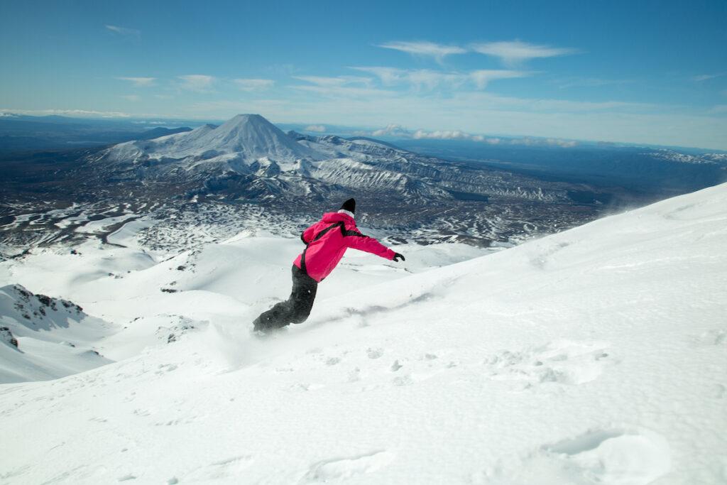 Ski slopes in New Zealand.