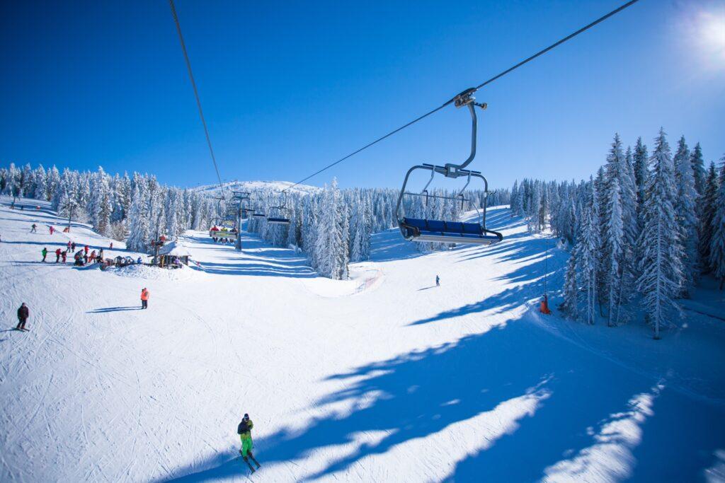 Ski slopes in Steamboat Springs, Colorado.