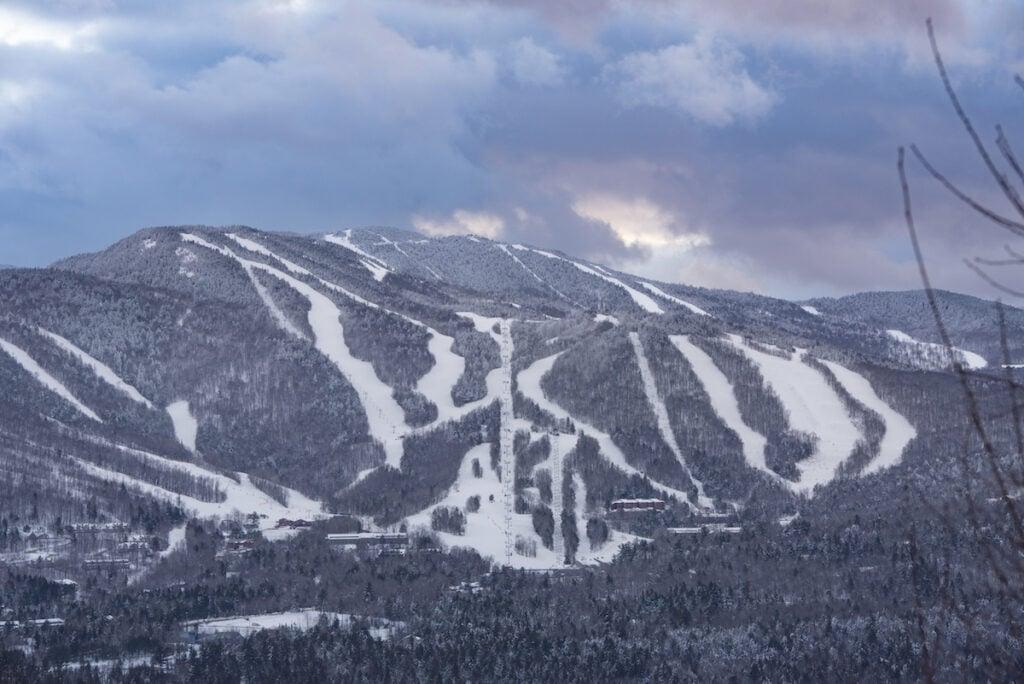 Ski slopes in Sunday River, Maine.