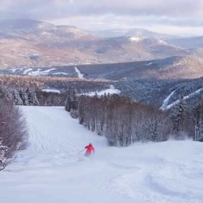 Ski slopes in Sunday River, Maine.