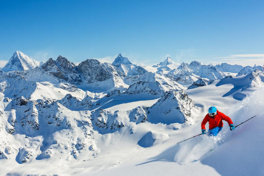 Ski slopes in Switzerland.
