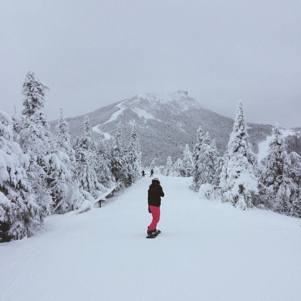 Skier at Jay Peak Resort in Vermont.