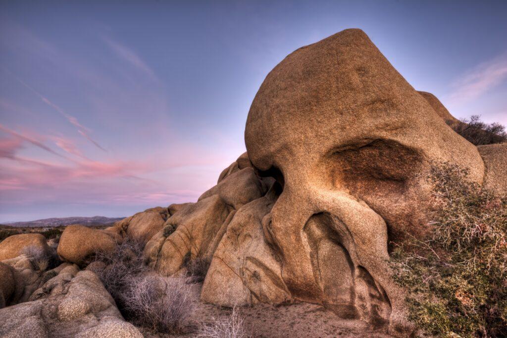 Skull Rock in Joshua Tree National Park.
