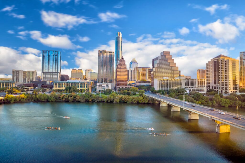 Skyline of Austin, Texas.