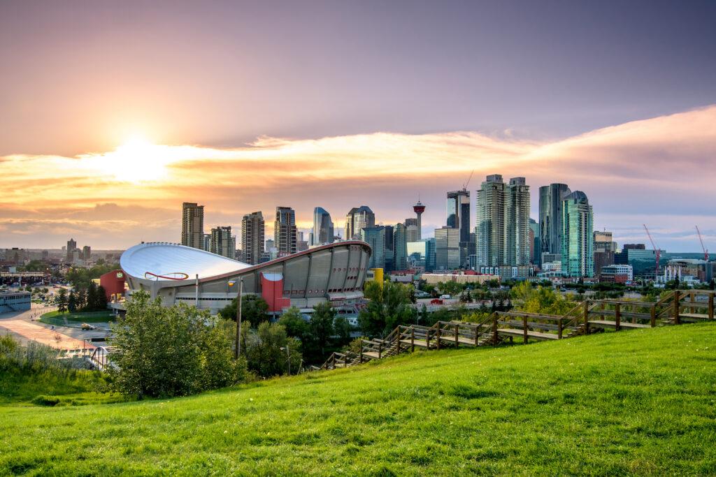 Skyline of Calgary, Alberta.