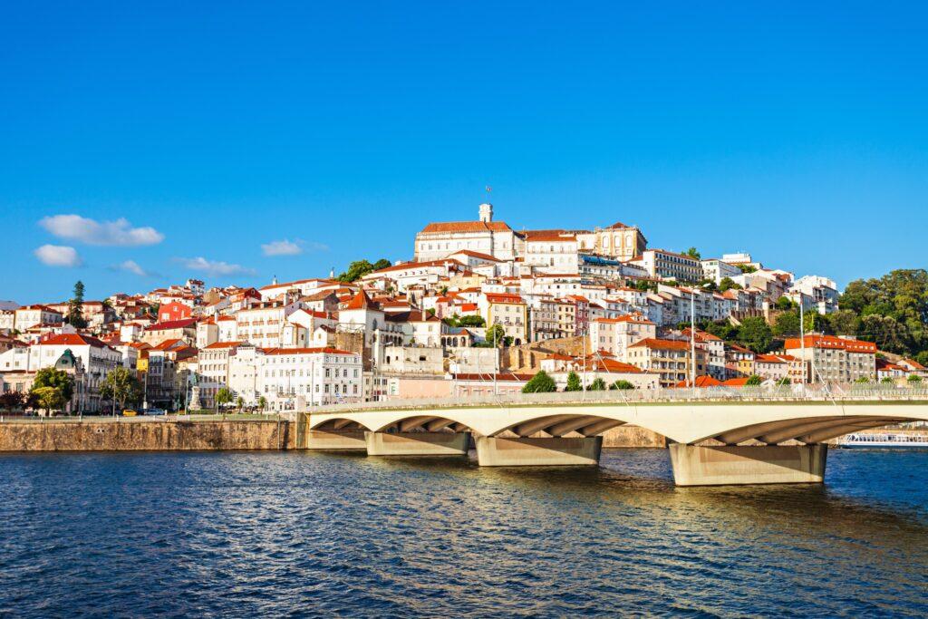 Skyline of Coimbra, Portugal.