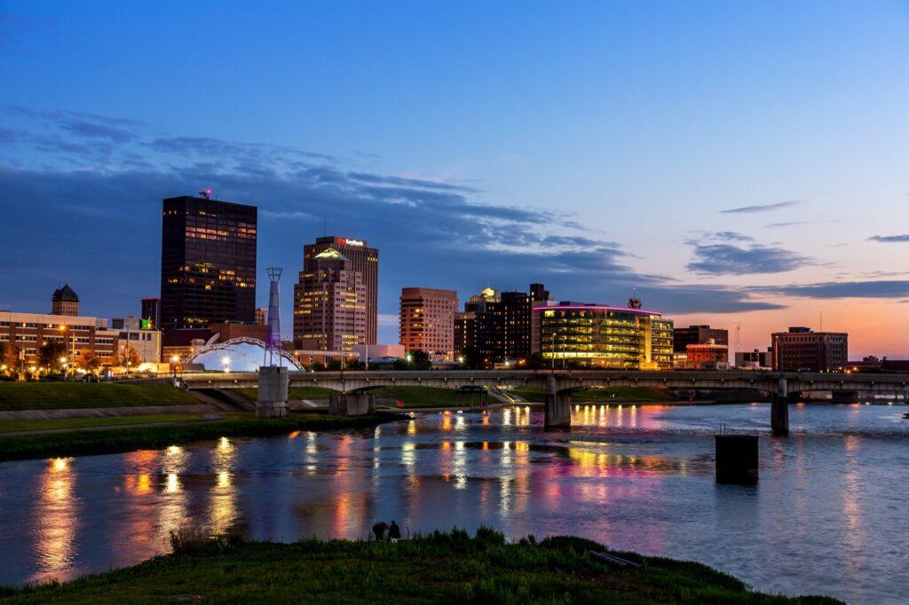 Skyline of Dayton, Ohio.