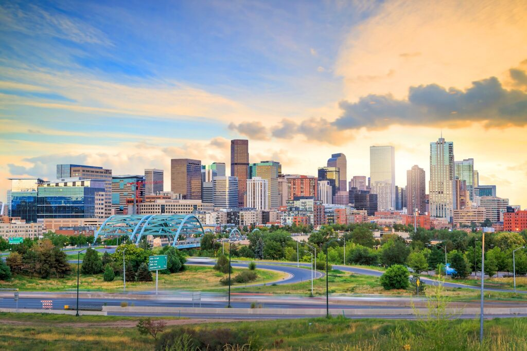 Skyline of Denver, Colorado.