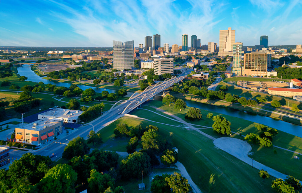 Skyline of Fort Worth, Texas.