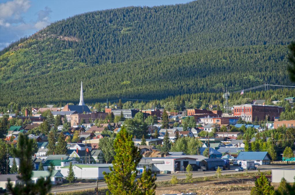 Skyline of Leadville, Colorado.