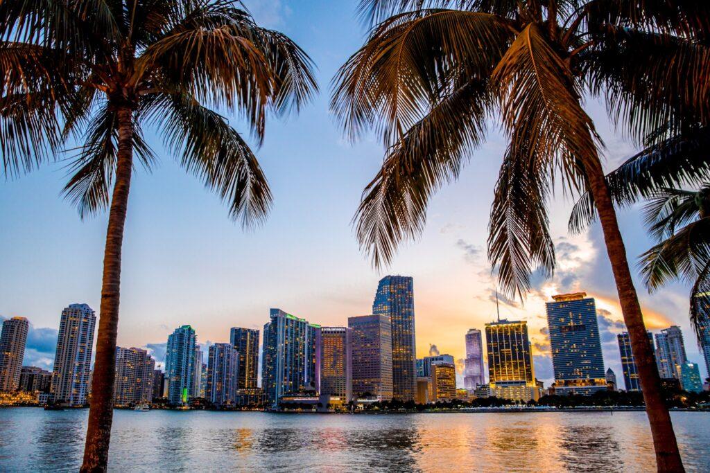 Skyline of Miami, Florida.