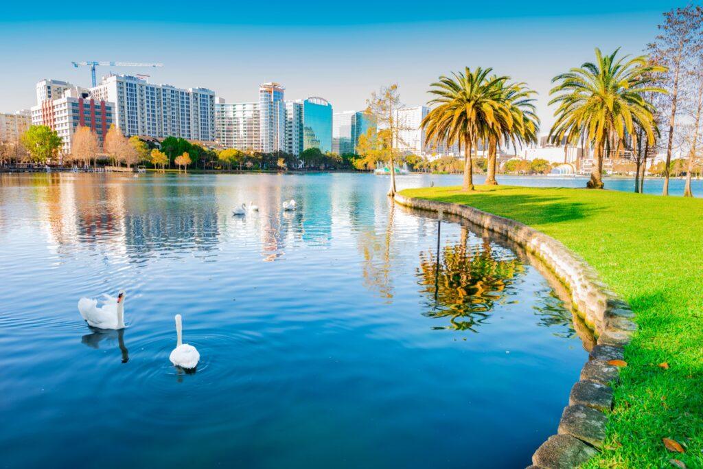 Skyline of Orlando, Florida.