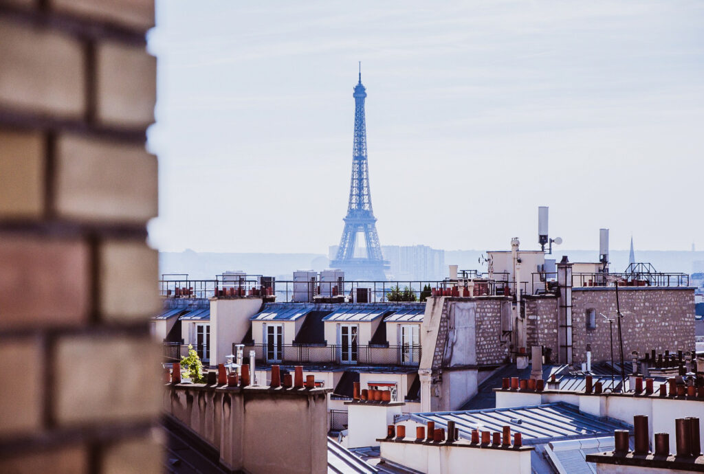 Skyline of Paris, France.