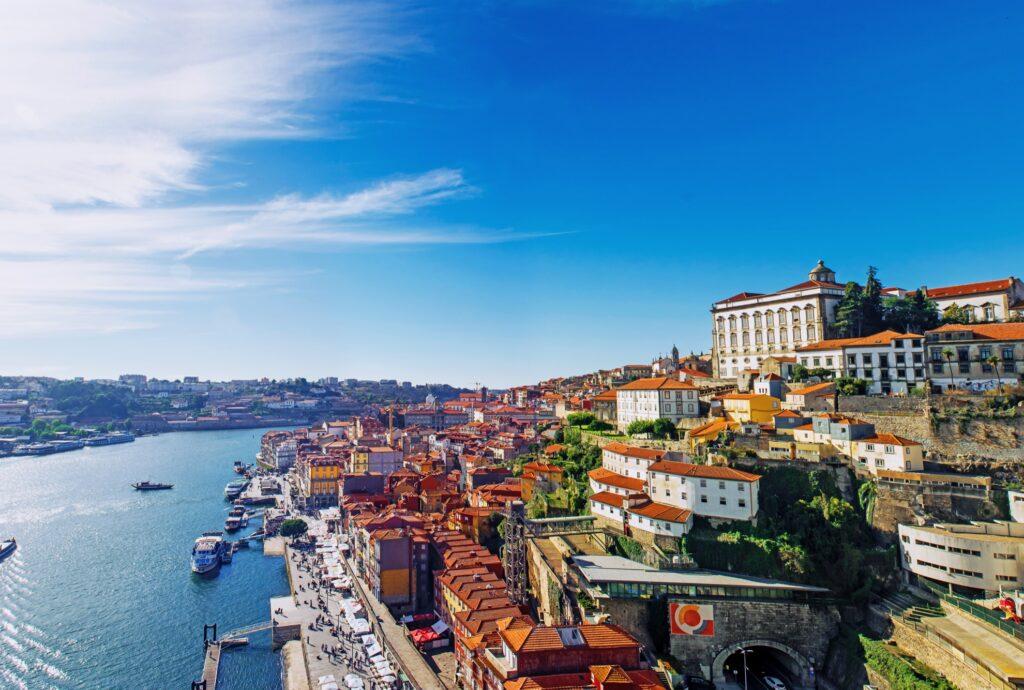 Skyline of Porto, Portugal.