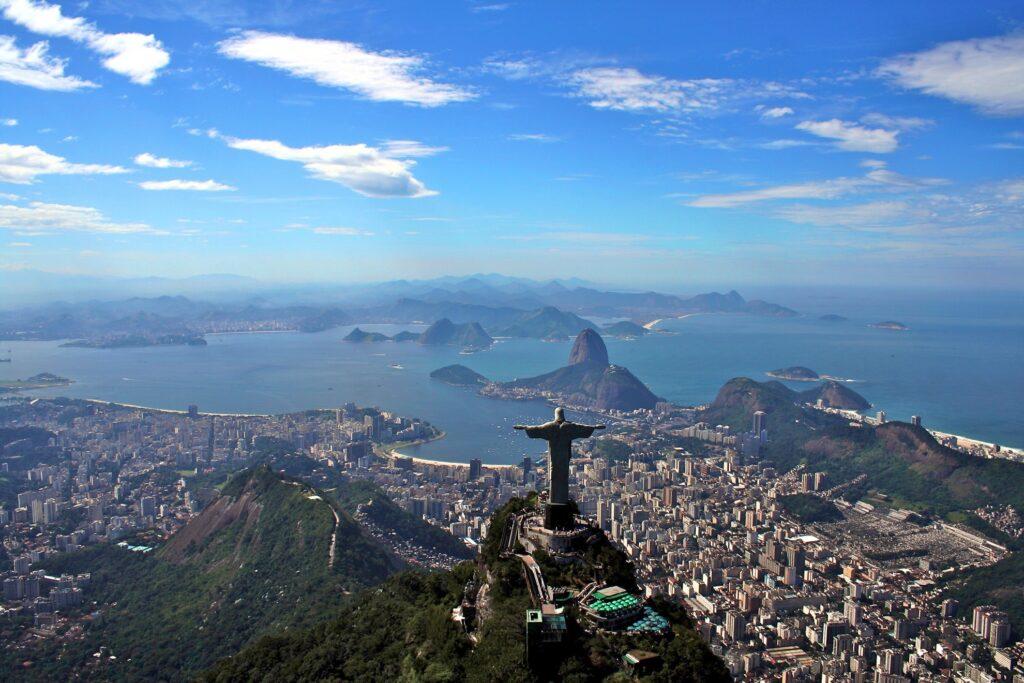 Skyline of Rio de Janeiro, Brazil.