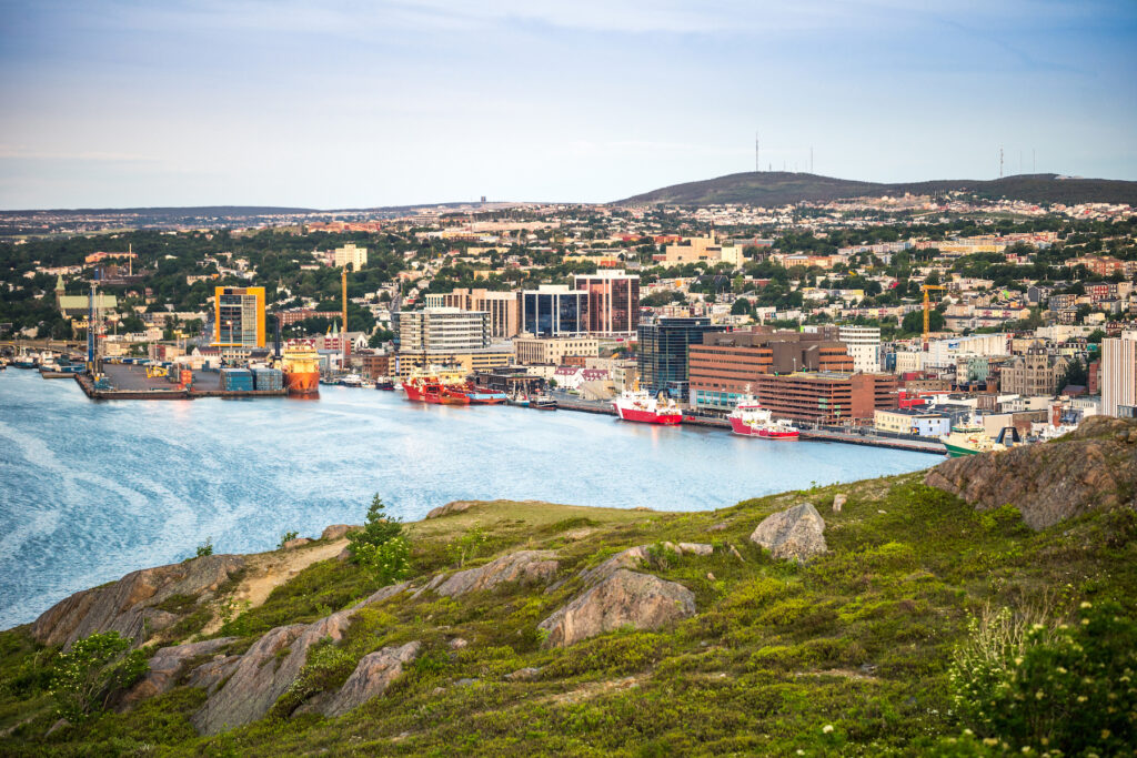 Skyline of Saint John's in Newfoundland.
