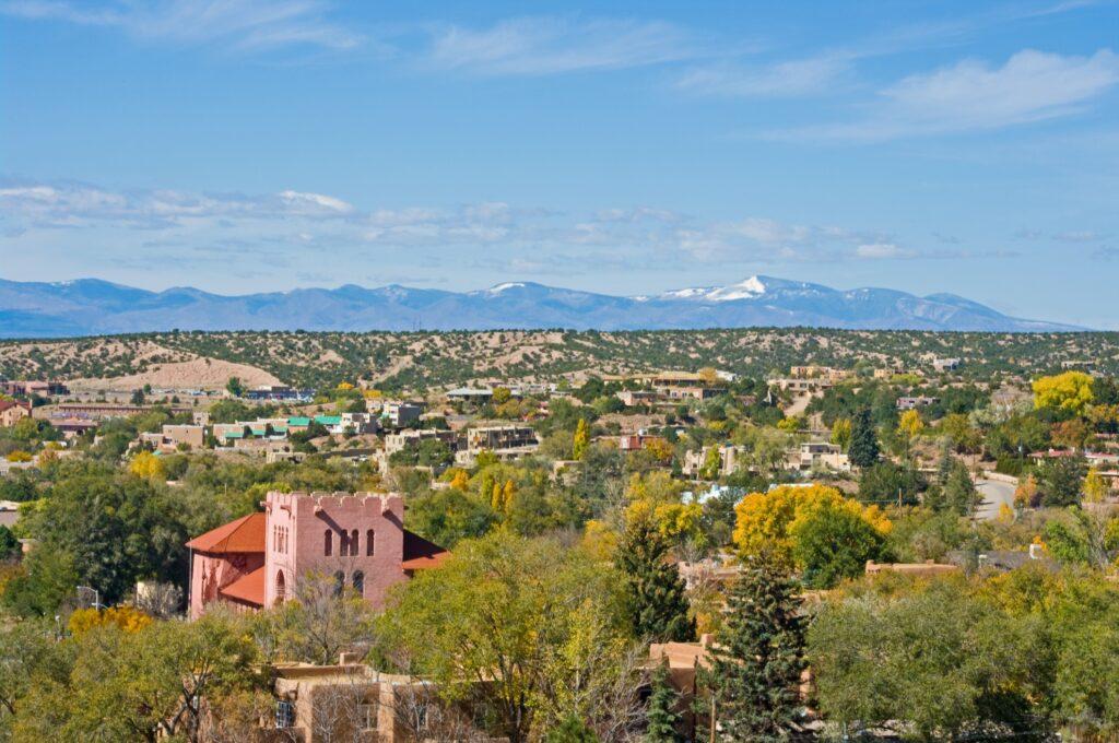 Skyline of Santa Fe, New Mexico.