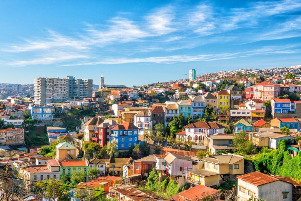 Skyline of Valparaiso, Chile.