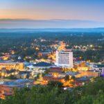 Skyline view of Hot Springs, Arkansas