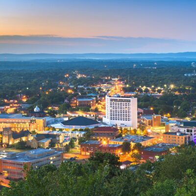 Skyline view of Hot Springs, Arkansas