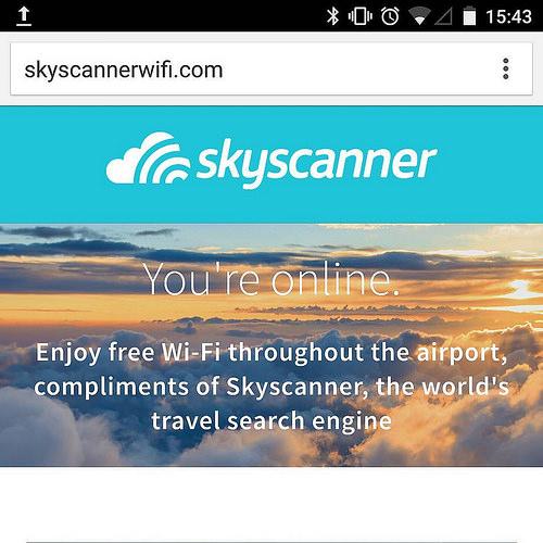 Skyscanner website homepage
