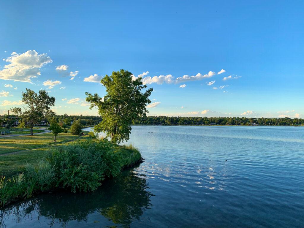 Sloan's Lake in Edgewater, Colorado.