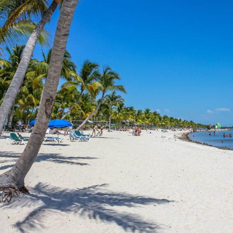 Smathers Beach in Key West, Florida.