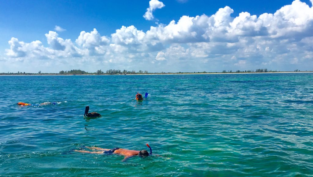 Snorkelers at Cabo Catoche.
