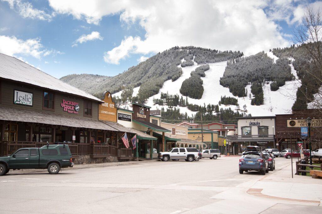 Snow King Mountain in Jackson Hole, Wyoming.