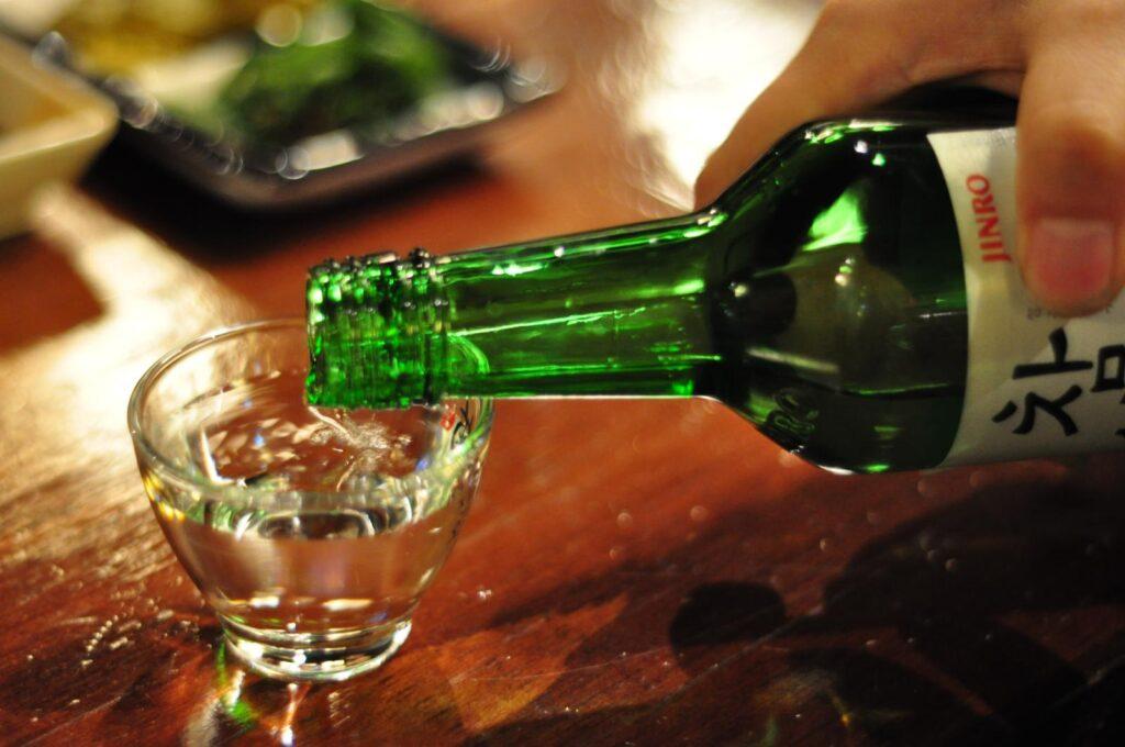 Soju, a popular rice wine in Seoul.