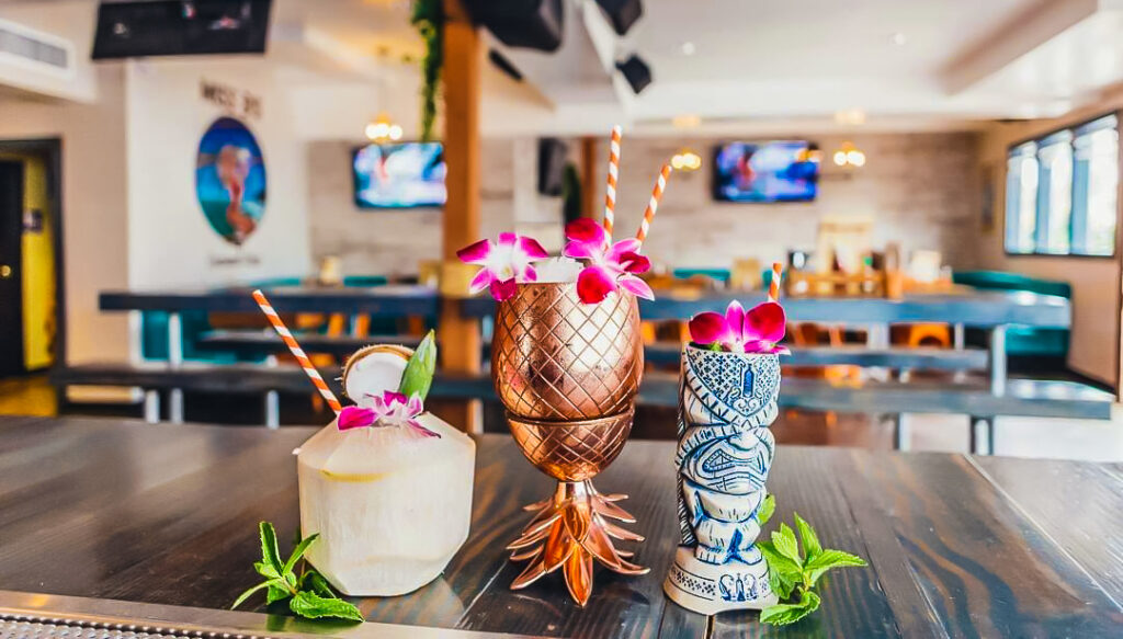 Some drinks from Miss B's Coconut Club