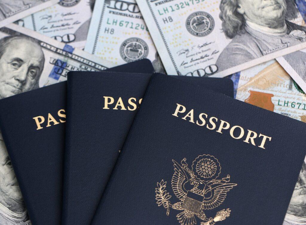 Some money and three U.S. passports.