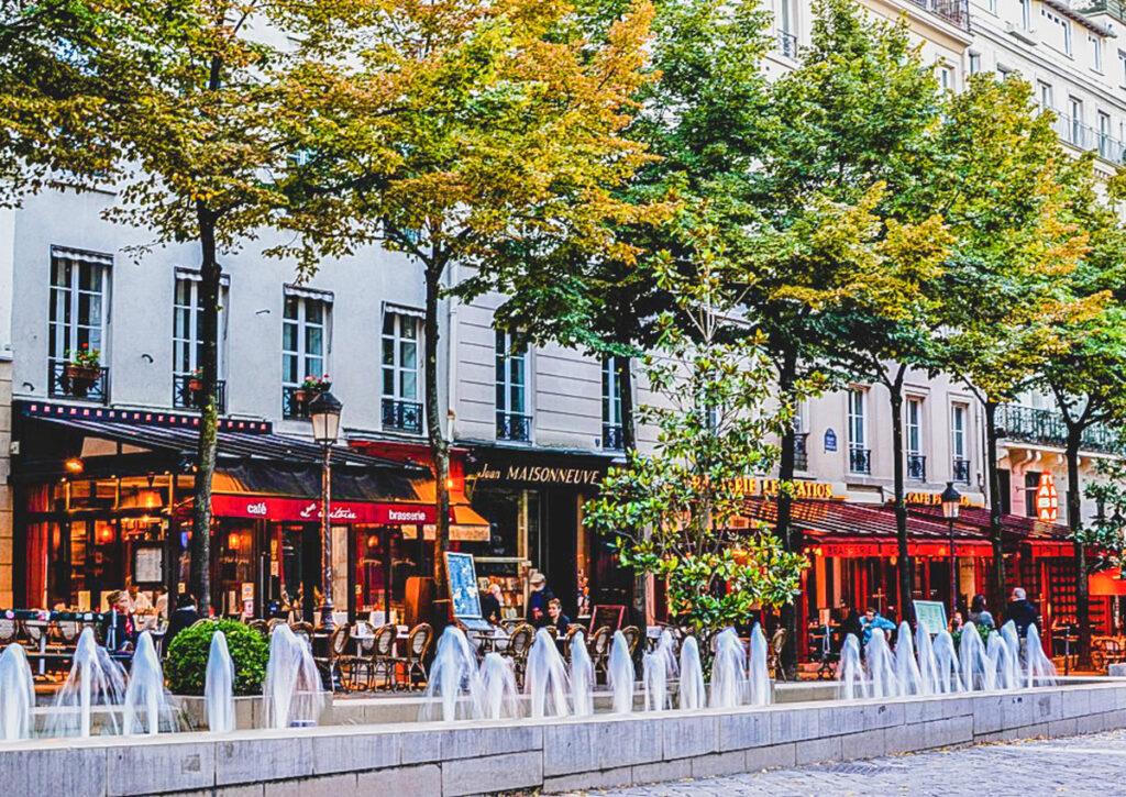 Sorbonne Square in the Latin Quarter of Paris.
