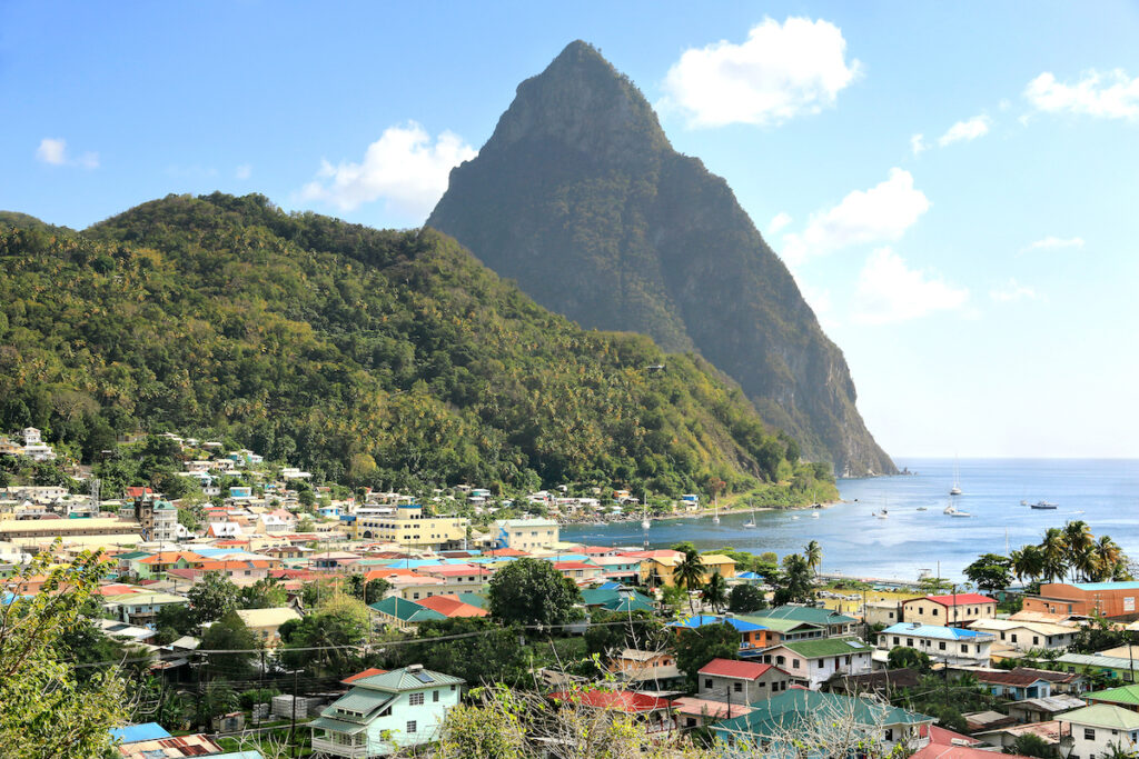 Soufriere, the French capital of Saint Lucia.