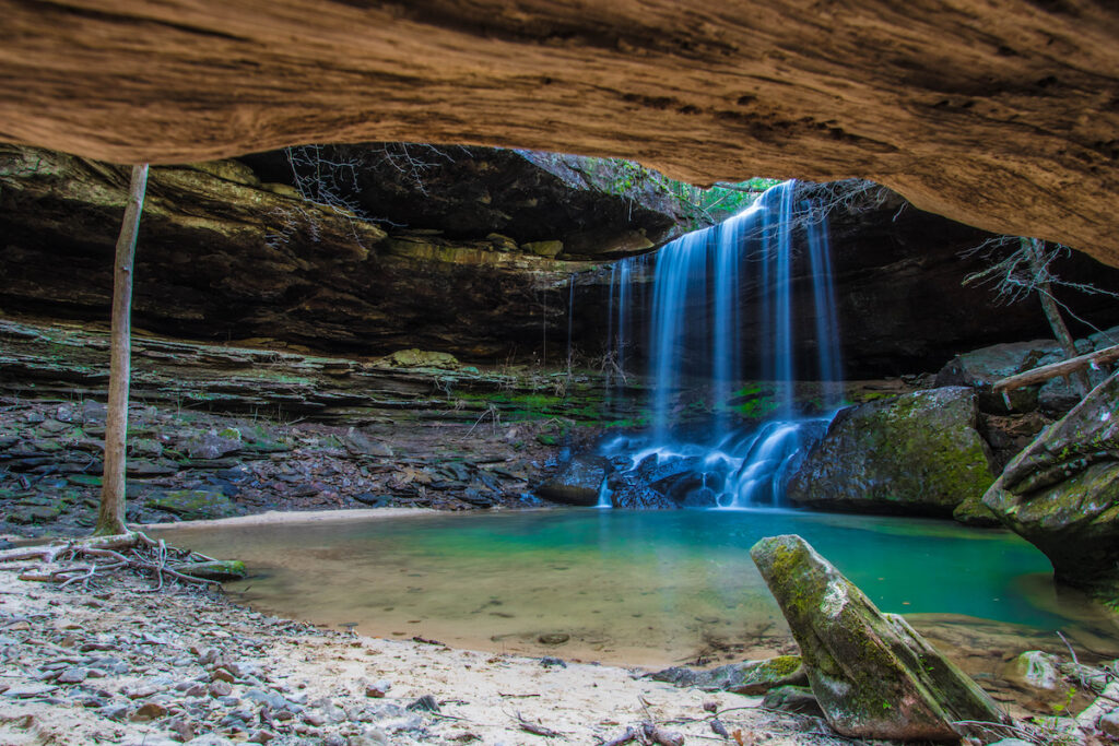 Sougahoagdee Falls in Bankhead National Forest.