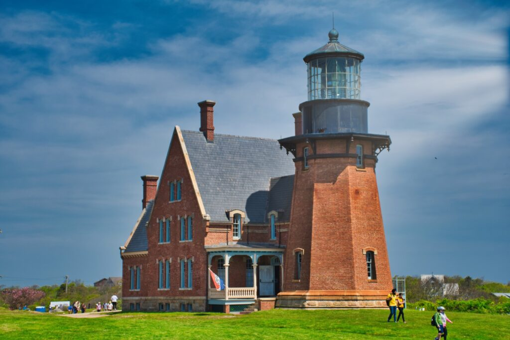 South East Lighthouse in New Shoreham, Rhode Island.
