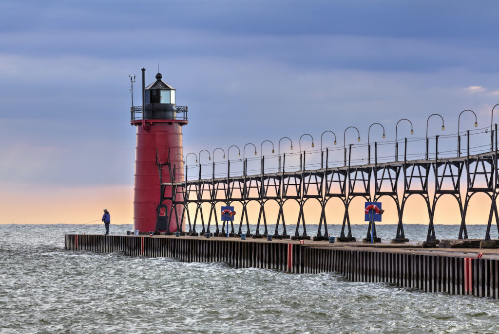 South Haven South Pierhead Light in Michigan.