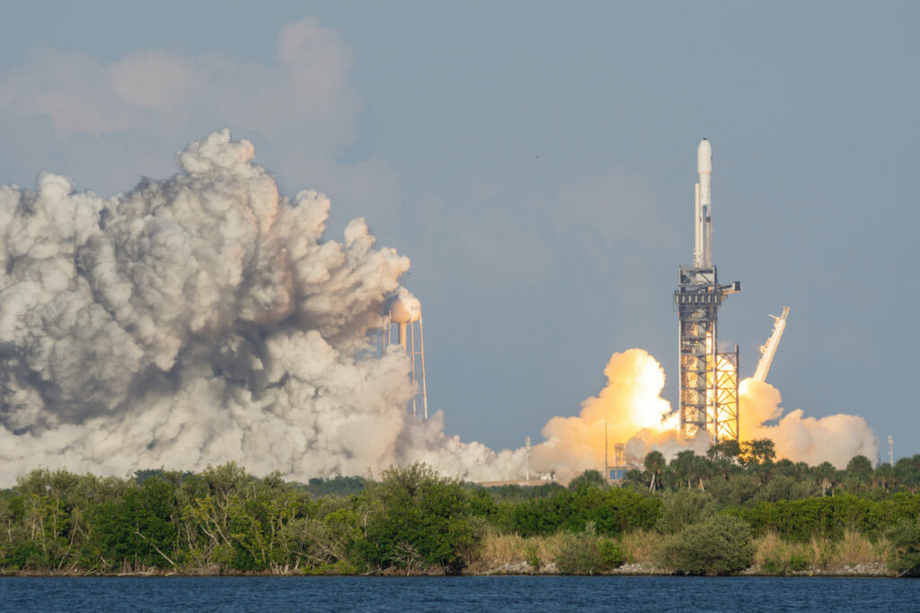 SpaceX launch viewed from Banana Creek.