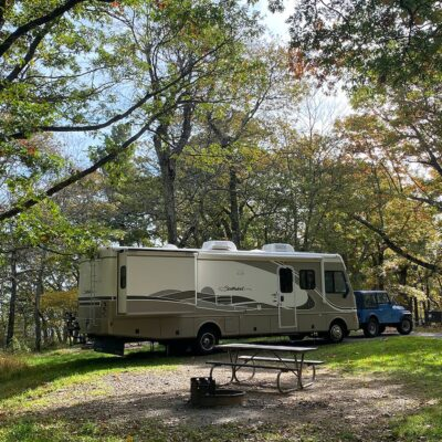 Spacious RV sites at Shenandoah National Park in Virginia.