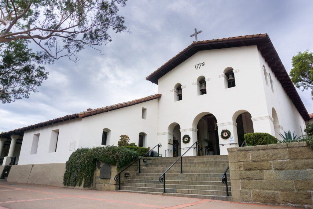 Spanish Mission at San Luis Obispo in California.