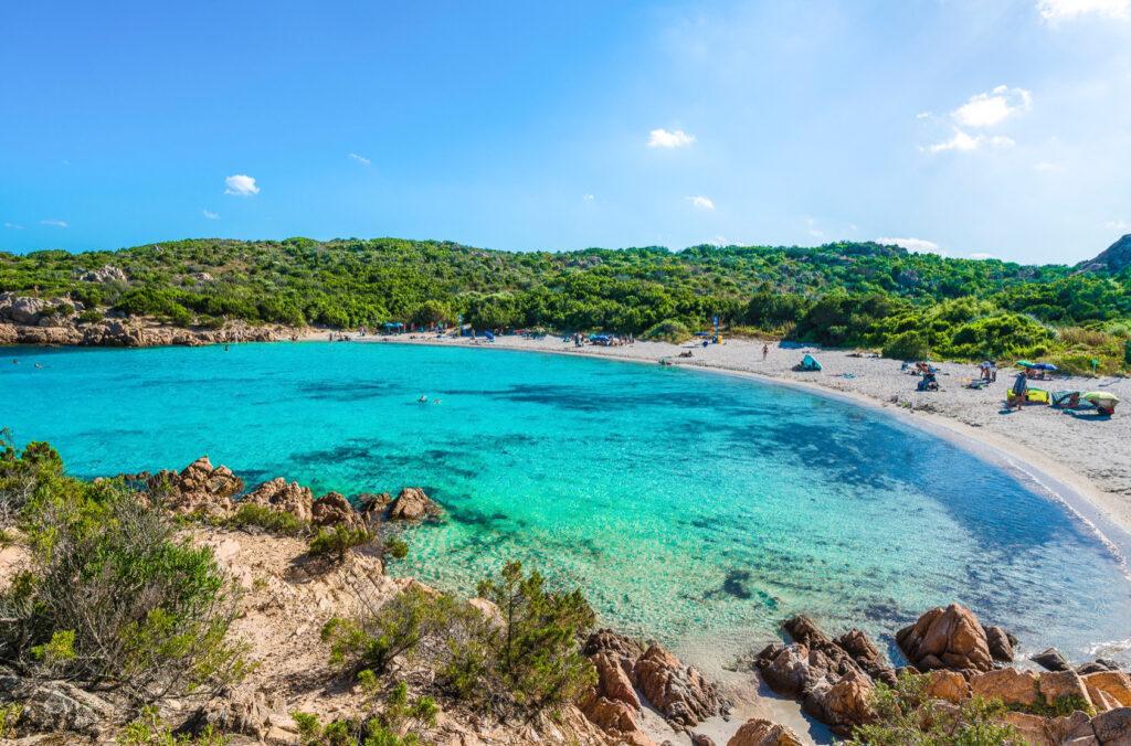 Spiaggia del Principe beach in Santorini.