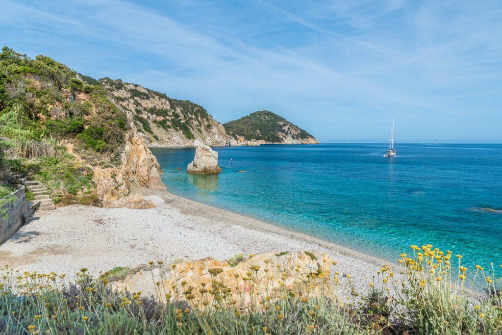 Spiaggia Di Sansone in Tuscany, Italy.