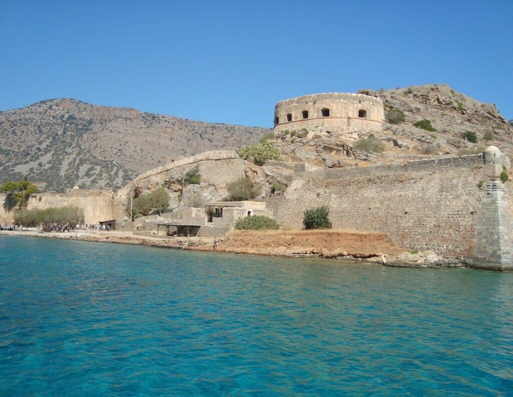 Spinalonga Island off the coast of Crete.