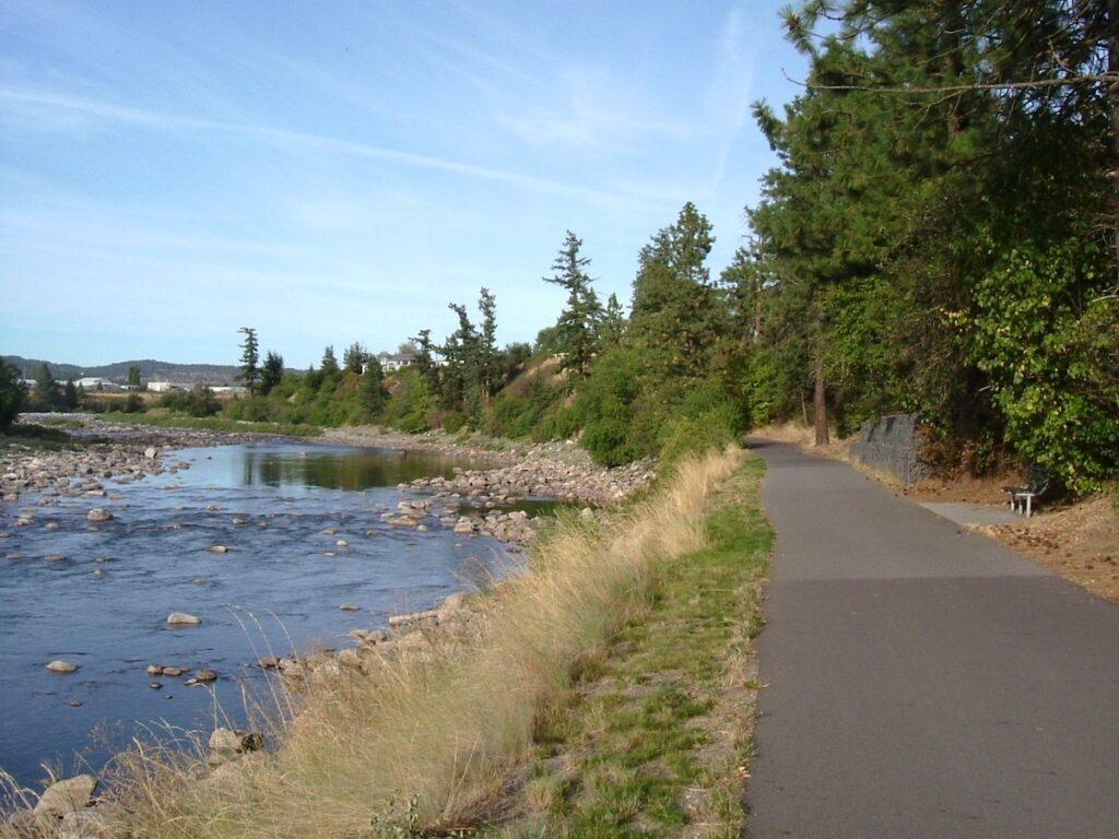 Spokane's Centennial Trail in Washington.