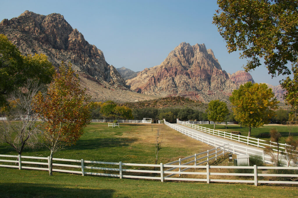 Spring Mountain Ranch State Park in Nevada.